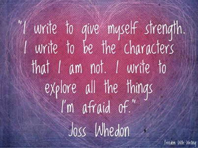 I write...