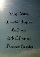 Being Postive by Diamante Lavendar