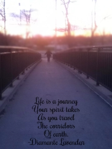 Life Is A Journey by Diamante Lavendar