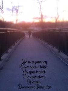 Life Is A Journey by Diamante Lavendar